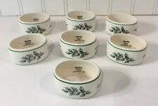 Set of 7 Spode Christmas Tree Napkin Rings, Made in England