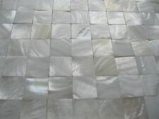 3 Matten total, PERLMUTT REINWEISS,Top-Qualität,OHNE Fugen, 20x20 mm auf Matte