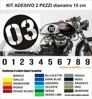 Adhesive Vinyl Numbers Stickers Numeri Adesivi Gara Racing Corse