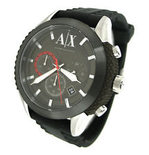 NEW ARMANI EXCHANGE CHRONOGRAPH 50M SILICONE RUBBER MENS WATCH AX1224
