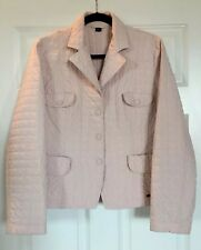 MAX MARA WEEKEND Quilted Lightweight Pale Pink Jacket Women's US Size 12