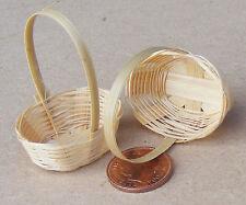 1:12 SCALA 2 fatto a mano cesti di bambù Casa delle Bambole Accessorio Negozio in miniatura (L)