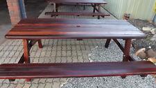 JARRAH / KARRI RECYCLED WA HARDWOOD PICNIC TABLE 6FT 6/8 SEAT