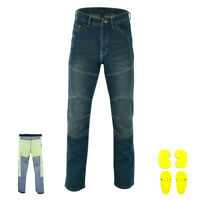 Mens Motorcycle Jeans Motorbike Pant Made with Kevlar Denim Trousers CE Armoured