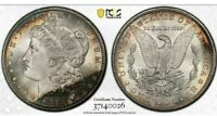 1881-S MORGAN SILVER DOLLAR PCGS MS64 BEAUTIFUL COLOR TONED GEM! MUST SEE!