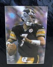 Pittsburgh Steelers Ben Roethlisberger # 7 Matted Artist Print 16 by 20