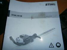 STIHL HS86 - HS 86 taille haie : notice d'emploi