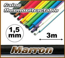 GM1.5-3# gaine thermorétractable Marron 1,5mm 3m ratio 2/1  gaine thermo