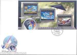 GUINEA 2012 GERMAN AIRCRAFT MESSERSCHMIDT & HEINKEL SHEET FIRST DAY COVER