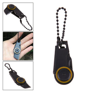 Key Ring Mini Zipper Knife Portable Tool Fordable Stainless Steel  Edc Outdoor