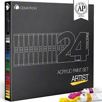 Acrylic Paint Set – Artist Quality, Heavy Body Colors for Canvas, Wood