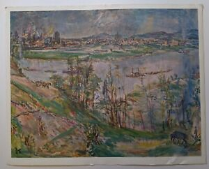VINTAGE OSKAR KOKOSCHKA - 1886 LINZ - FINE ART PRINT RARE 1968 MCM SWITZERLAND