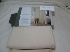 "Threshold Quality & Design Fabric Shower Curtain 72x72"" Beige Garment Washed NEW"