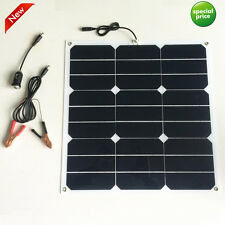 27W 12V Sunpower Solar Panel Charger High Efficiency For Battery Charging