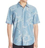 """RIP CURL Men's S/S Button-Up Shirt """"Caicos"""" - BSH - Medium - NWT"""