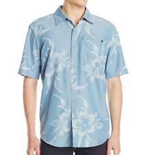 "RIP CURL Men's S/S Button-Up Shirt ""Caicos"" - BSH - Medium - NWT - Reg $90"