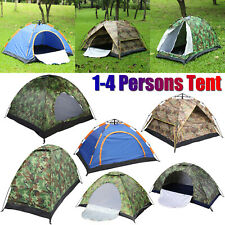 1 to 4 Person Outdoor Tents Camping Hiking 4 Season Waterproof Auto Folding Tent