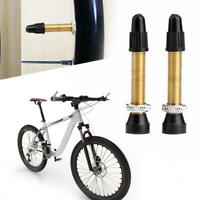 1 Pair Mountain Road Bike Bicycle Copper Metal Tubeless Presta Valve Stems Parts