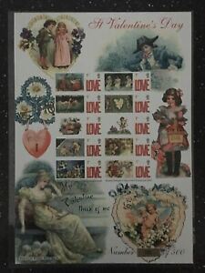 A VALENTINE DAY. ONLY 500 ISSUED.HISTORY OF BRITAIN SHEET NUMBER 14.