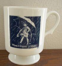 Morton Salt - When it Rains it Pours Mug with 1914 blue & white logo - Vintage