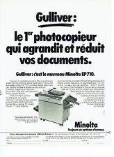 Publicité Advertising 057  1980  Minolta  photocopieur Gulliver EP 710