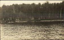 Rockwood ME Moons Overnight Cabins Moosehead Lake Real Photo Postcard