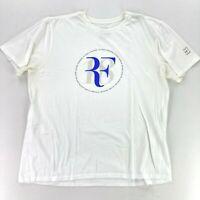 Nike Roger Federer RF 18 Championships Men's White T-Shirt • Size XL