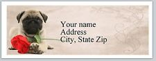 Personalized Address Labels Dog with a rose Buy 3 get 1 free (ac 815)
