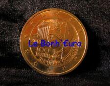 Monnaie 2 Euro Autriche 2018, 100ans de la république, dorée à l'or fin, UNC