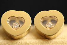Chopard 18ct Yellow Gold Happy Diamonds Earrings Tot 0.11ct Diamonds 83/2897-20