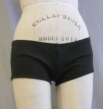 PRO CHEER AUDITION BLACK SHORT IN MOISTURE WICKING MATTE SUPPLEX - SZ ML-MEDIUM