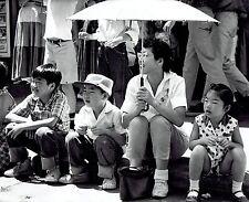 1961 Original Photo Japanese family watch American Legion Parade in Denver CO