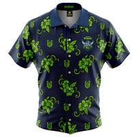 Canberra Raiders NRL 2021 Tribal Hawaiian Shirt Button Up Polo T Shirt Sizes S-5