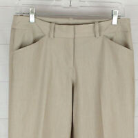 Worthington modern womens size 6P beige flat front mid rise bootcut dress pants