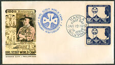 1967 Philippines GIRL SCOUT WORLD CAMP 100TH ANNIVERSARY First Day Cover - A