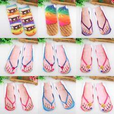 Men Women Funny Socks 3D Print Flip Flops Socks Low Cut Ankle Boat Socks