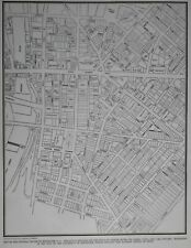 Vintage 1939 World War WWII Atlas City Map Rochester NY New York With Businesses