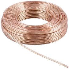 100m (10 Ringe je 10m) Zwillingslitze 2x 1,5mm² Kabel transparent 2-adrig