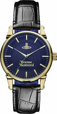 Vivienne Westwood Women's Quartz Watch with Blue Dial Analogue Display and Black