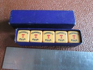 Tennent's Beer - Vintage Poker Dice in original box