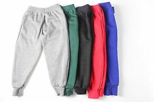 KIDS BOYS GIRLS SCHOOL SPORTS JOGGERS JOGGING BOTTOMS CUFFED