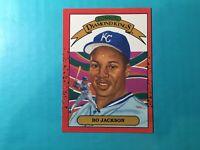 Bo Jackson 1990 DONRUSS BASEBALL DIAMOND KING CARD #1 ROYALS