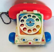 Vintage - Fisher-Price  Wooden Chatter Telephone Pull Toy #747 Original - 1961