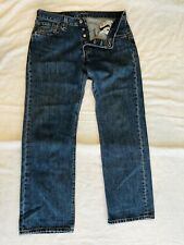 Levis 501 Jeans Size W 34 L 30 Button Fly Blue Straight Fit Mens