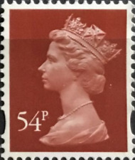 GB Machin Redrawn 54p Type III Litho By Cartor SG Y1783 UM Booklet only stamp