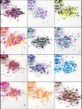 12PCS X Designer Round Confetti Glitter Mix for Nail Art (SET B) RRP. $26