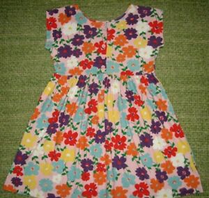 Pretty HANNA ANDERSSON Vintage Floral Knit Dress 130 Girls 8-10