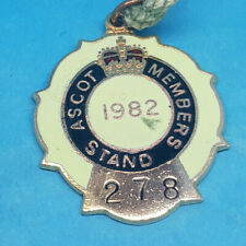 Ascot Horse Racing Members Badge - 1982