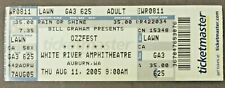 2005 Ozzfest Ozzie Osbourne White River Washington rock concert ticket