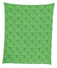 "4 Leaf Clover Swirls Mircofleece Throw Blanket 50""x60"""